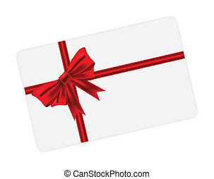 Red ribbon cover on card
