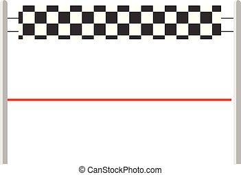 Red ribbon finishing line. Finish. Vector illustration