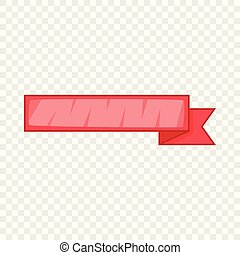 Red ribbon icon, cartoon style