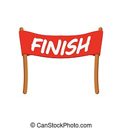 Red ribbon in finishing line