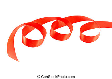 red ribbon isolated on white