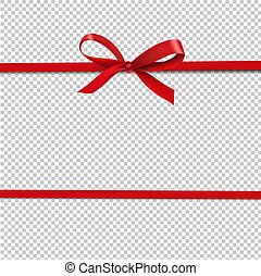 Red Ribbon Isolated Transparent Background