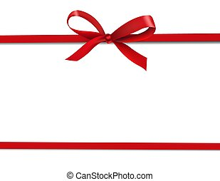 Red Ribbon Isolated White Background