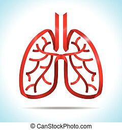 Red ribbon lung Logo