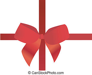 red ribbon on white vector