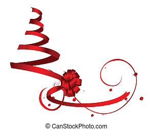red ribbon tree