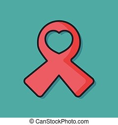 Red Ribbon vector icon