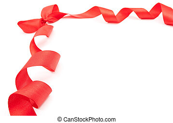 Red ribbon with bow