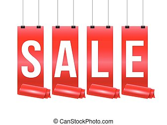 Red ribbon with SALE