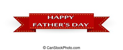 Red ribbon with the inscription Happy Father's Day.