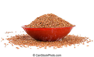 red rice in a brown