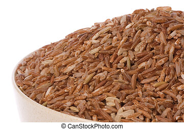 Red Rice Isolated