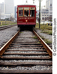 Red Rider - Riverfront streetcar in New Orleans