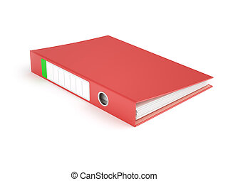 Red Ring Binder - Red ring binder isolated on white