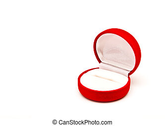 Red ring box isolated on white background