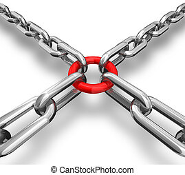 Red ring with chains