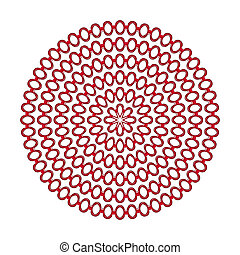 red rings mandala pattern