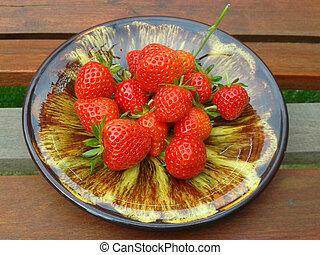 Red ripe strawberries 2.
