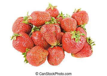 red ripe strawberries