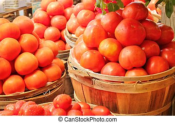 Red, ripe tomatoes