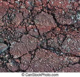 Red road crack texture