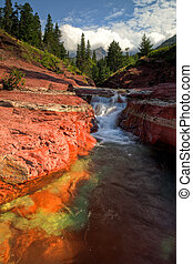 Red Rock Canyon in Waterton Lakes National Park