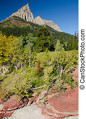 Red Rock Canyon in Waterton National Park, Canada