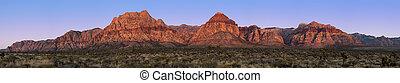 Red Rock Canyon pano - Panorama of Red Rock Canyon, Nevada,...