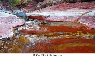Red Rock Canyon Waterton Lakes Park - Small cascade at the...