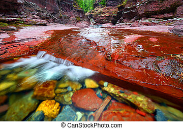 Red Rock Canyon Waterton Lakes Park