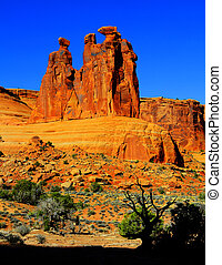Red Rock Cliff Face Moab National Park Utah Wilderness Mountains