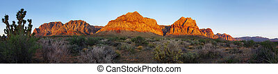 Red Rock desert at sunrise