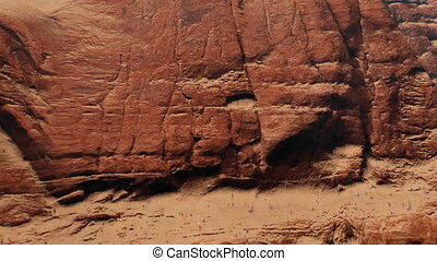 Red rock formations closeup - Closeup view of the red rock...