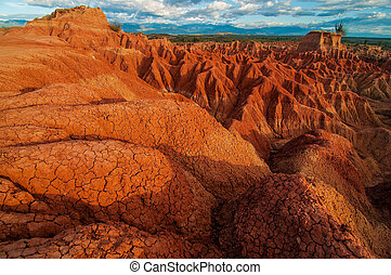 Red Rock Formations of Tatacoa - The red rock formations in...
