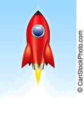 Red rocket launch