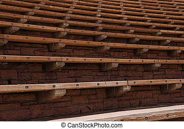 Red Rocks Amphitheater in Colorado - The seats extend out...