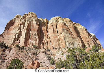 Red rocks and steep cliffs