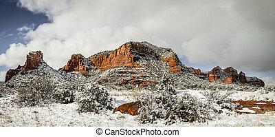 Red Rocks under snow