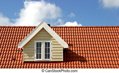 red roof - america style house