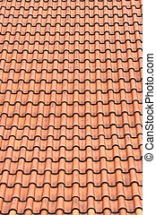 Red roof clay tiles - Perspective of red roof clay tiles