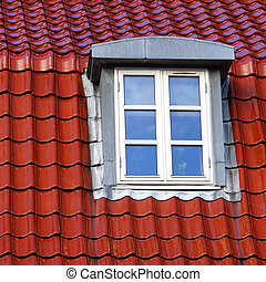 Red roof of a house