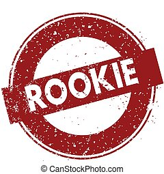 Red ROOKIE rubber stamp illustration on white background