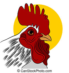 Red Rooster - An image of a red rooster.