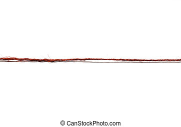 red rope on a white background
