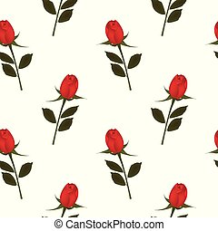 Red rose background, seamless pattern