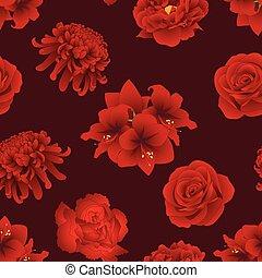 Red Rose, Chrysanthemum, Carnation, Peony and Amaryllis...