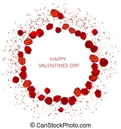 red rose petals . valentine s card background