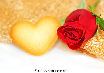 Red Rose with heart