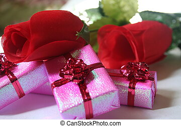 red roses and pink I