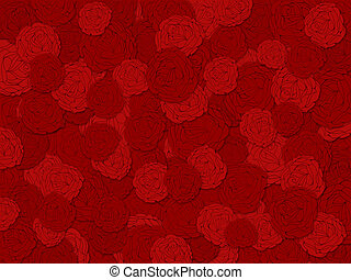 Red Roses Background for Valentines Day